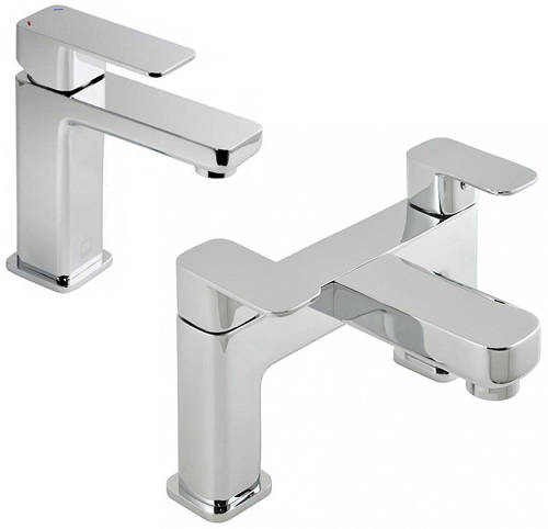 Additional image for Basin Mixer & Bath Filler Taps Pack (Chrome).
