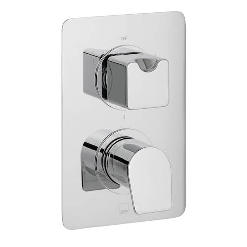 Additional image for Thermostatic Shower Valve With 3 Outlets (Chrome).