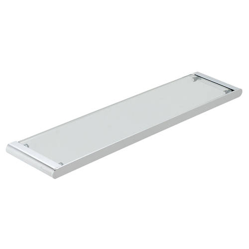 Additional image for Clear Glass Shelf 573mm (Chrome).