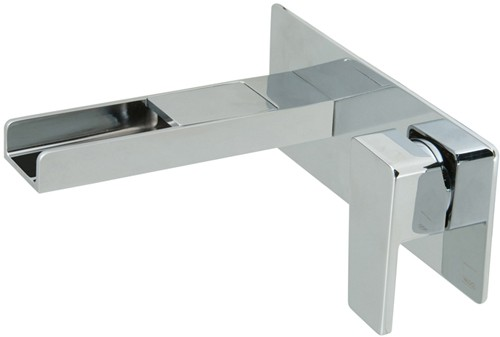 Additional image for Wall Mounted Waterfall Basin Tap (Chrome).