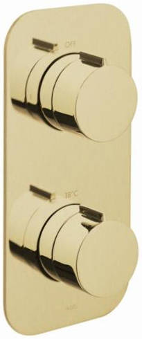 Additional image for 2 Outlet Thermostatic Shower Valve (Brushed Gold).