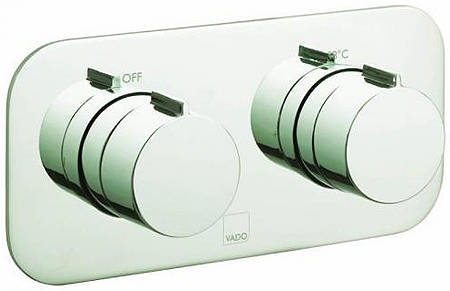 Additional image for 2 Outlet Thermostatic Shower Valve (Bright Nickel).