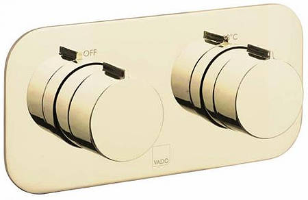 Additional image for 2 Outlet Thermostatic Shower Valve (Polished Gold).