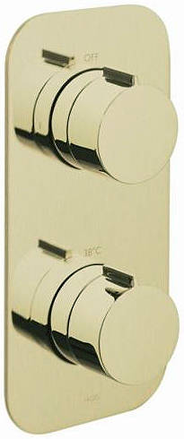 Additional image for 1 Outlet Thermostatic Shower Valve (Polished Gold).