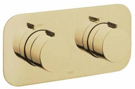 Additional image for 1 Outlet Thermostatic Shower Valve (Brushed Gold).
