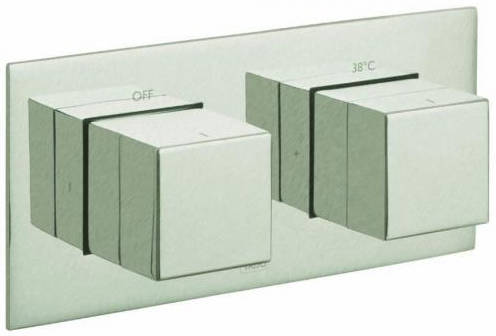 "Additional image for Thermostatic Shower Valve With 1 Outlet (3/4"" Brushed Nickel)."