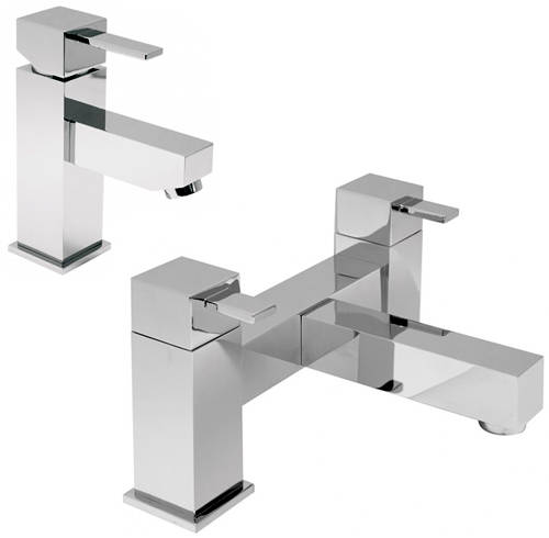 Additional image for Bath Filler & Basin Mixer Taps Pack (Chrome).