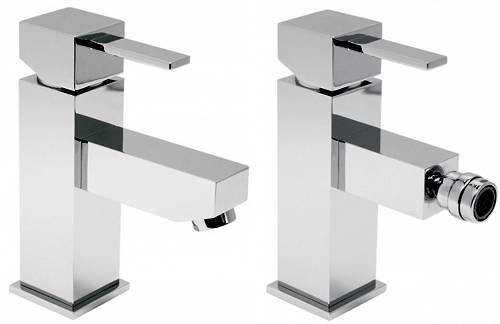 Additional image for Mono Basin & Bidet Mixer Taps Pack (Chrome).
