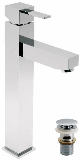 Additional image for Tall Basin Mixer Tap With Clic-Clac Waste (Chrome).