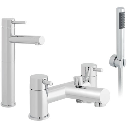 Additional image for Extended Basin & Bath Shower Mixer Tap Pack (Chrome).