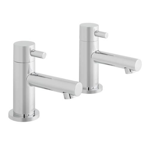 Additional image for Pillar Basin Taps (Chrome).
