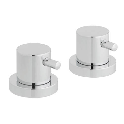 "Additional image for 2 x Deck Mounted Stop Valves 3/4""  (Chrome)."