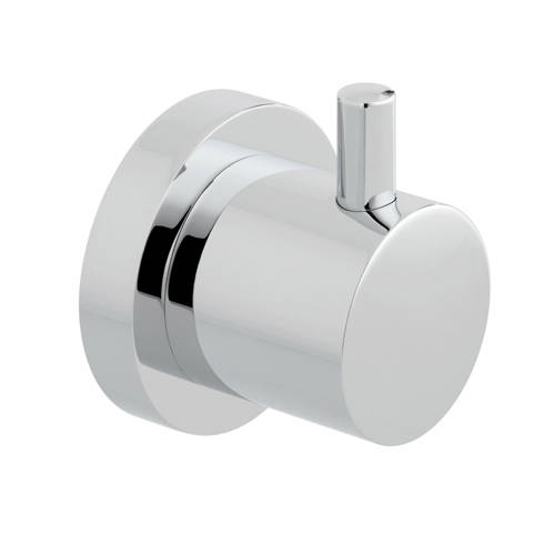 "Additional image for Shower Stop Valve 3/4"" (Chrome)."