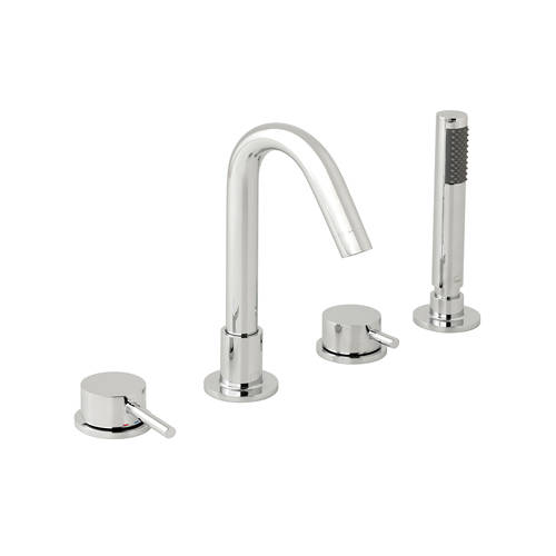 Additional image for 4 Hole Bath Shower Mixer Tap (Chrome).
