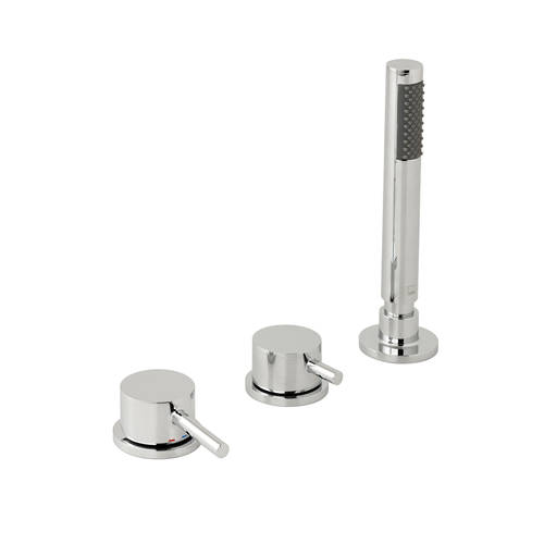 Additional image for 3 Hole Bath Shower Mixer Tap Without Spout (Chrome).