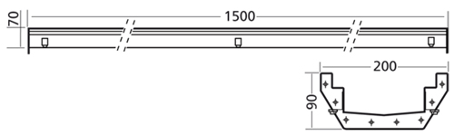 Additional image for Connect Channel Drain Part 1500x200mm (No Outlet).