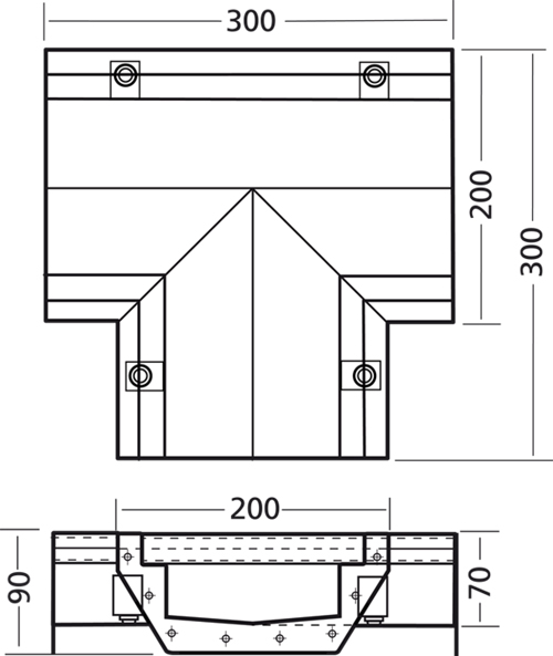 Additional image for Connect Channel T Part 300x300x200mm.