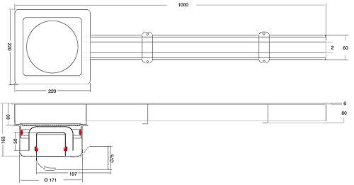 Additional image for Kitchen Slot Drain 1000x60mm (Connectable).