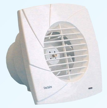 Additional image for High Pressure Extractor Fan With Timer. 100mm (White).