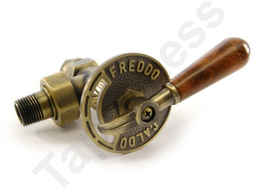 Additional image for Abbey Manual & LS Angled Radiator Valves (Old Brass).