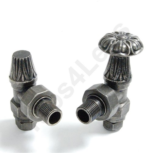 Additional image for Abbey Manual & LS Angled Radiator Valves (Pewter).