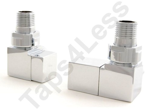 Additional image for Cubex Corner Radiator Valves (Chrome).
