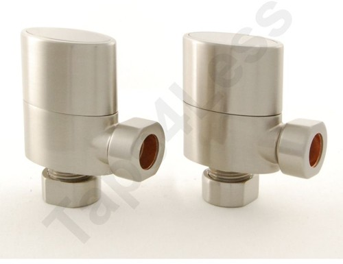 Additional image for Ellipse Angled Radiator Valves & Sleeves (S Nickel).