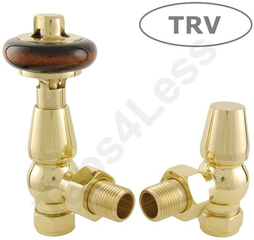 Additional image for Thermostatic Angled Radiator Valves (Brass).