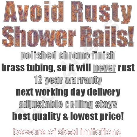 Additional image for Oval Shower Curtain Rail With Wall Brackets (Chrome).