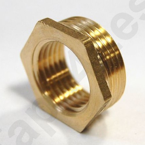 "Additional image for ¾""  x ½"" Reducer (Brass)."