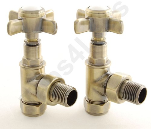 Additional image for Westminster Angled Radiator Valves (A Brass).