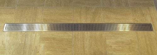 Additional image for Rectangular Wetroom Shower Drain With Side Outlet. 1400mm.