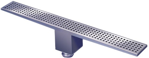 Rectangular Wetroom Shower Drain Bottom Outlet 1600mm