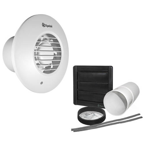 Additional image for Extractor Fan With PIR Sensor & Kit (100mm).