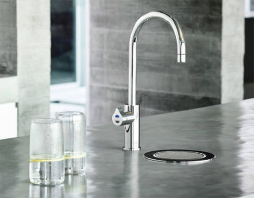 Additional image for Stand Alone Tap Font & Drip Tray Kit (Brushed Chrome).