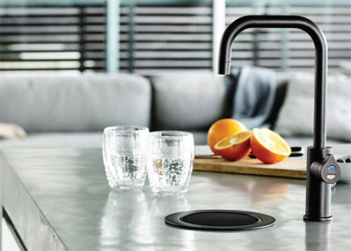 Additional image for Stand Alone Tap Font & Drip Tray Kit (Gloss Black).