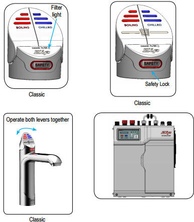 Additional image for Boiling Hot & Chilled Water Tap (41 - 60 People, Bright Chrome).
