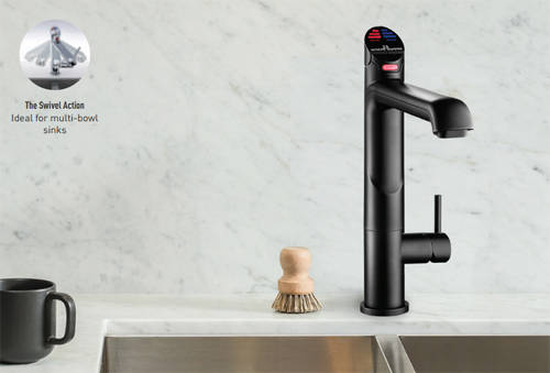Additional image for AIO Boiling, Chilled & Sparkling Tap (Matt Black, Vented).