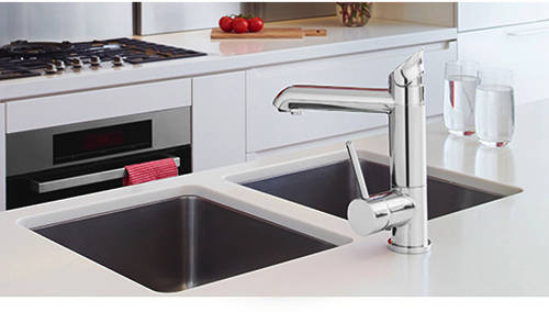 Additional image for AIO Boiling Water, Chilled & Sparkling Tap (Brushed Chrome).